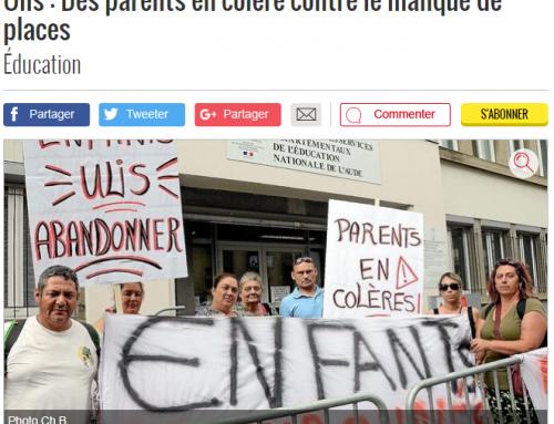 ULIS : les parents d'élèves en colère dans la presse