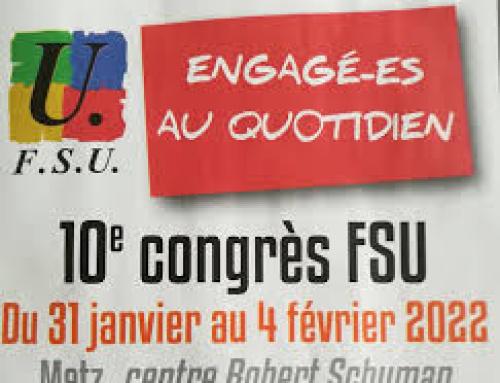 10e congrès FSU en 2022 : les appels à candidature du vote départemental